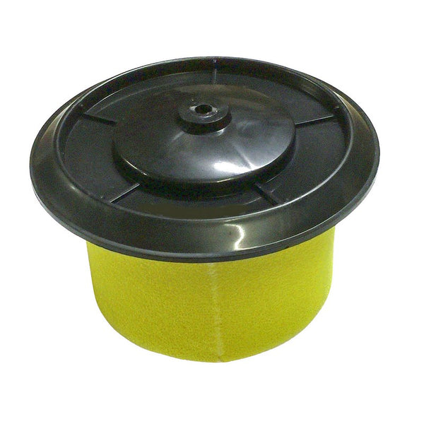 Air filter element with cap, for metal filter box 2cv/Dyane.