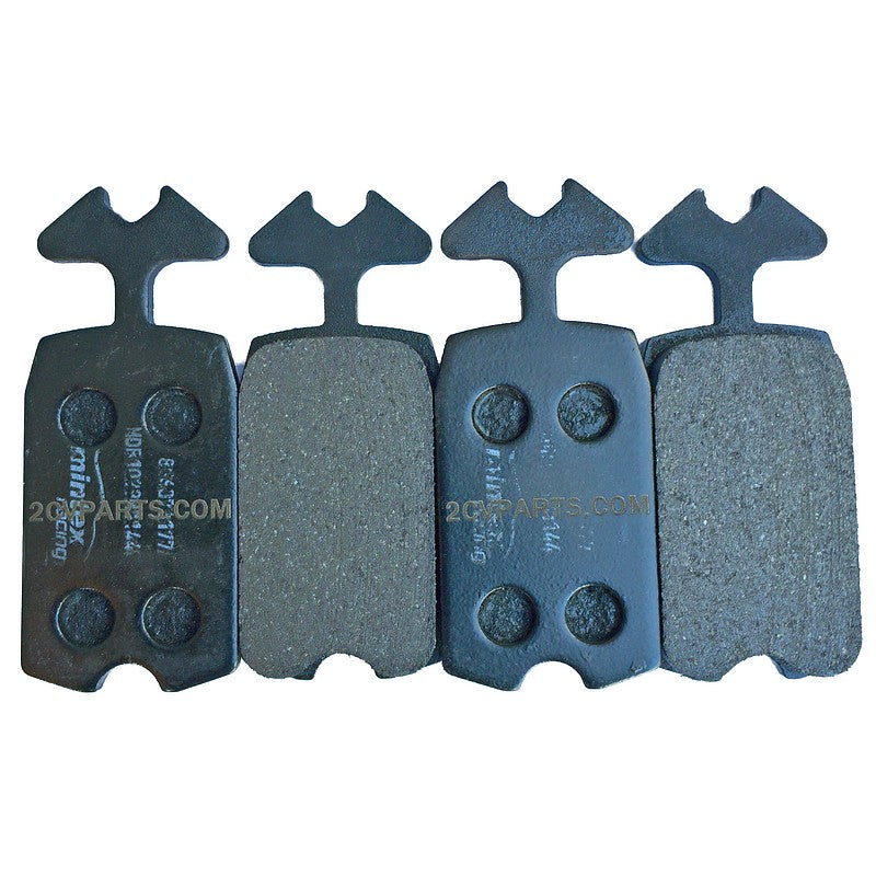 Mintex track day & Racing brake pads for all 2cv and Dyane 6. Set of 4. SEE NOTES