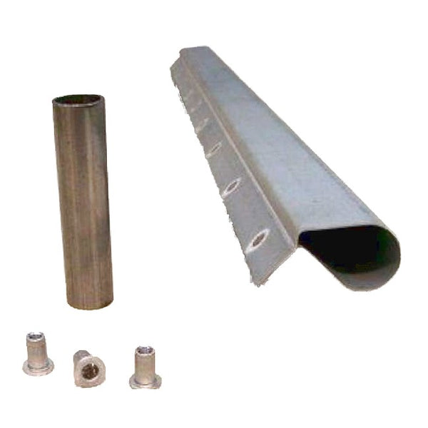 A or C post repair section with installation guide tube 2cv (lower front or rear door pillar).