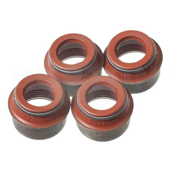 Valve stem seals, RUBBER, 2cv6 etc., 4 seals all of one size, October 1967 onward, engine set of 4.