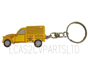 Key fob, yellow AZU van.