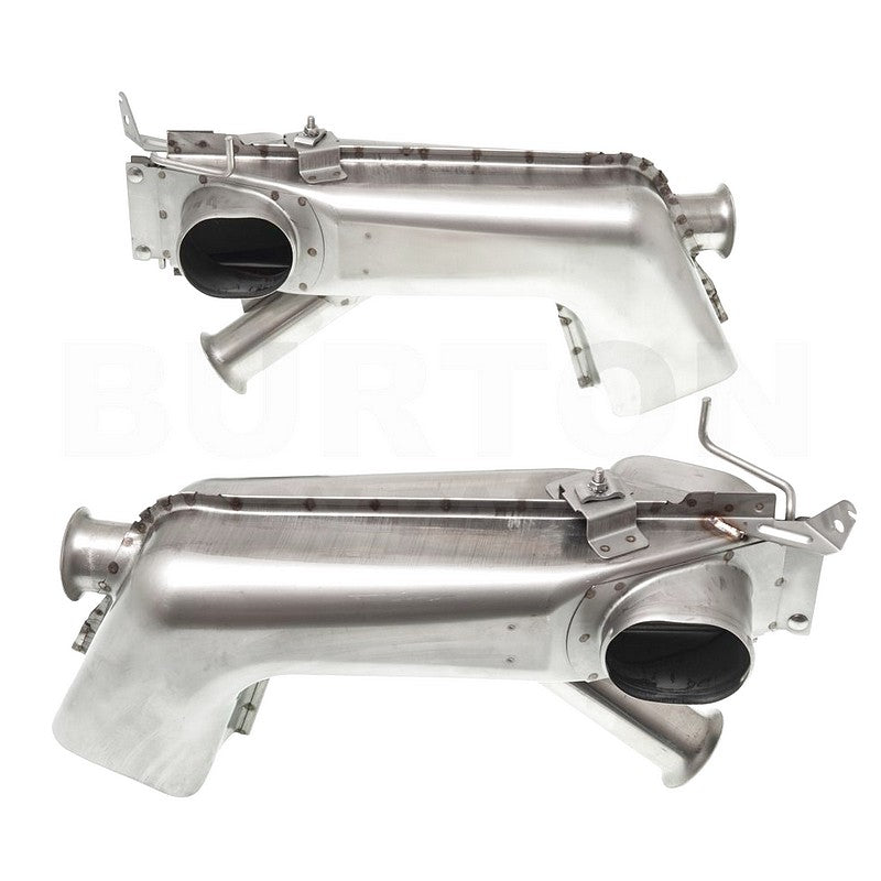 All new heat exchangers for 2cv 602cc engines, pair in unpolished stainless steel. SEE NOTES about noise.