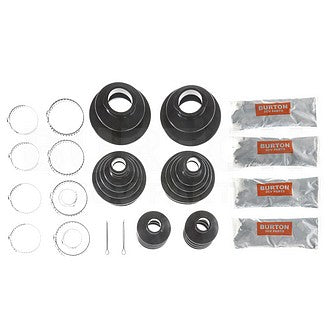 Driveshaft gaiters neoprene, complete 2cv car kit of 6 gaiters with steel gaiter ties and grease.