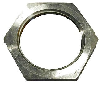Lock nut, stainless steel, 46mm (M36x1.50) for threaded tube on suspension tube.