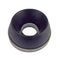 Stainless steel backed suspension cylinder rubber bump stop (doughnut).