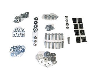 Full set of screws, speednuts, bolts & nuts to hold engine cooling ducting together.