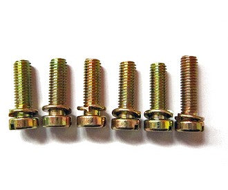 Set of 5 M5x0.75 screws for lid of 26/35 oval top carburettor, 2cv6.