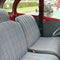 Seat upholstery set, VERY BEST QUALITY, 2 round corners, 2cv special, blue/grey flecked. See important notes.