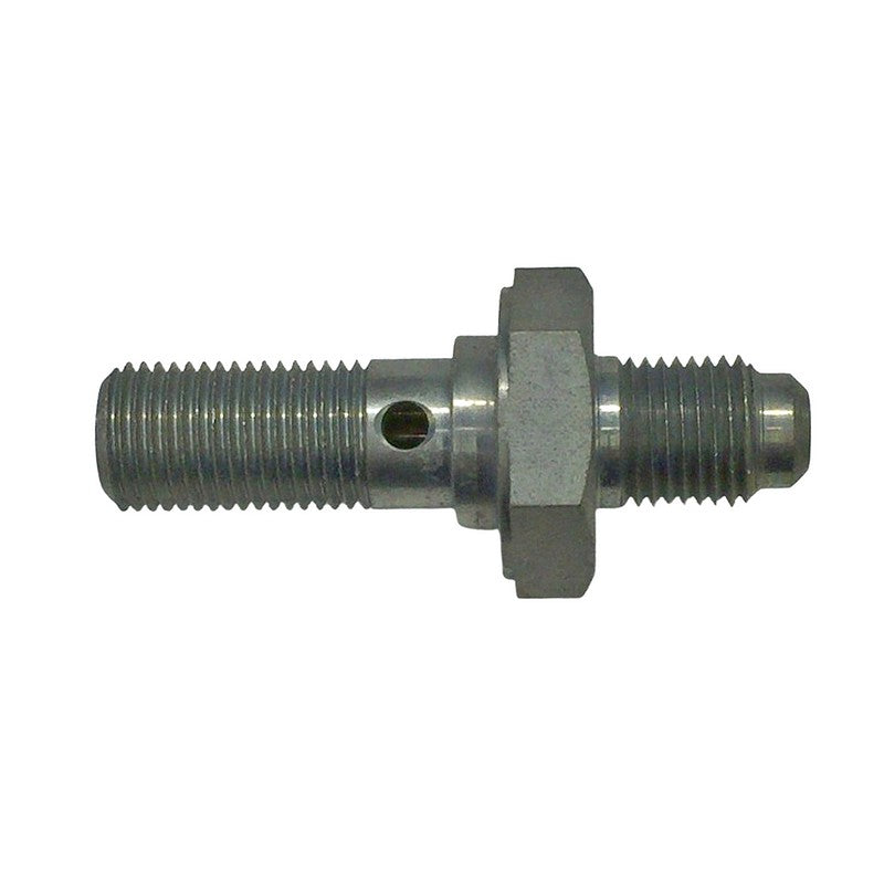 Banjo double male connector for 6.35mm pipe system, 26mm and 14mm, M10x1.00