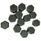 Wheel nut cover, 19mm, right shape, right size, soft black plastic. Set of 13 (1 spare)