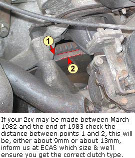 Clutch kit 2cv etc. March 1970 to FEB. 1982 (coil spring type), SEE VERY IMPORTANT NOTES.
