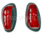 Indicator lens, red & white, Labinal pattern, dark grey, set of 2 lenses. OUT OF STOCK