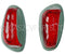 Indicator lens, red & white, Labinal pattern, light grey, set of 2 lenses. OUT OF STOCK.