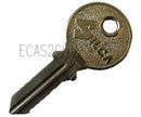Key, for door or boot lid, blank for 2cv6