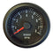 Tachometer, rev counter, 52mm diam., 12v, black bezel, black face, for 2cv engine, 0 to 8000rpm.
