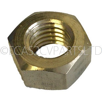Brass nut to hold 2cv headlight to headlight bar.