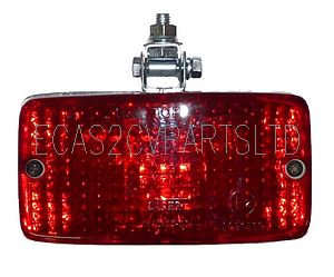 Rear fog light, similar to original, new improved shape. Approx. 140x80mm.