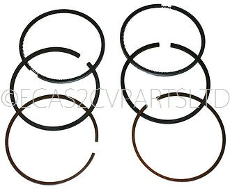 Piston ring set, (for 2 pistons) 652cc Visa, 77mm diameter. 1.5mm top, 2mm mid, 3mm oil, See notes.