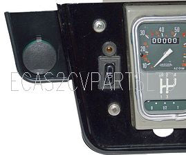 Accessory electrical power socket, to fit only UK, RIGHT HAND DRIVE, 2cv special dashboard. zero stock, see notes