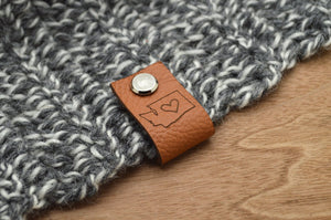 Personalized/ Custom Leather Hat Label Tags with Rivet