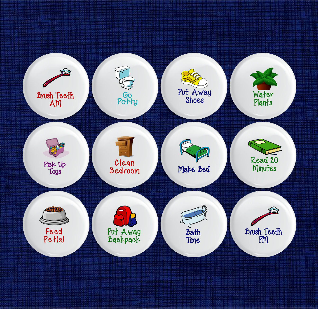 Custom Picture Chore Magnets (set of 12)