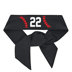 Personalized Softball Headband Head Tie