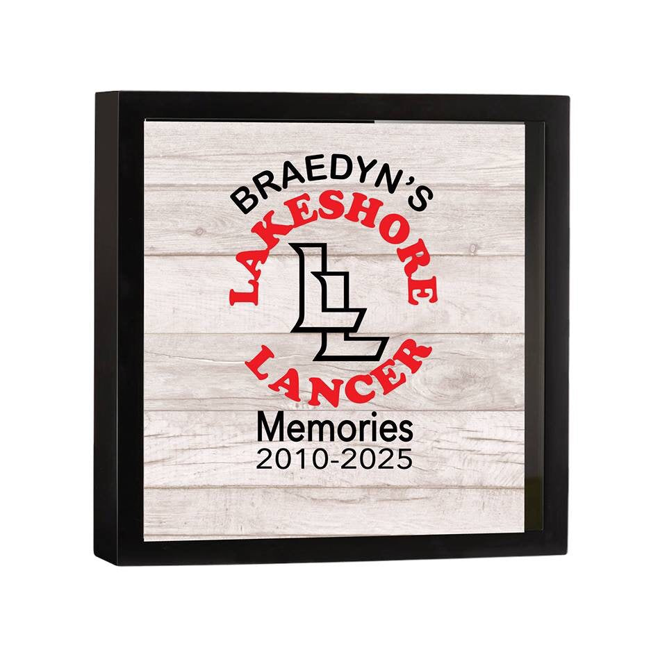 School Teenager Memories Keepsake Collector Shadow Box