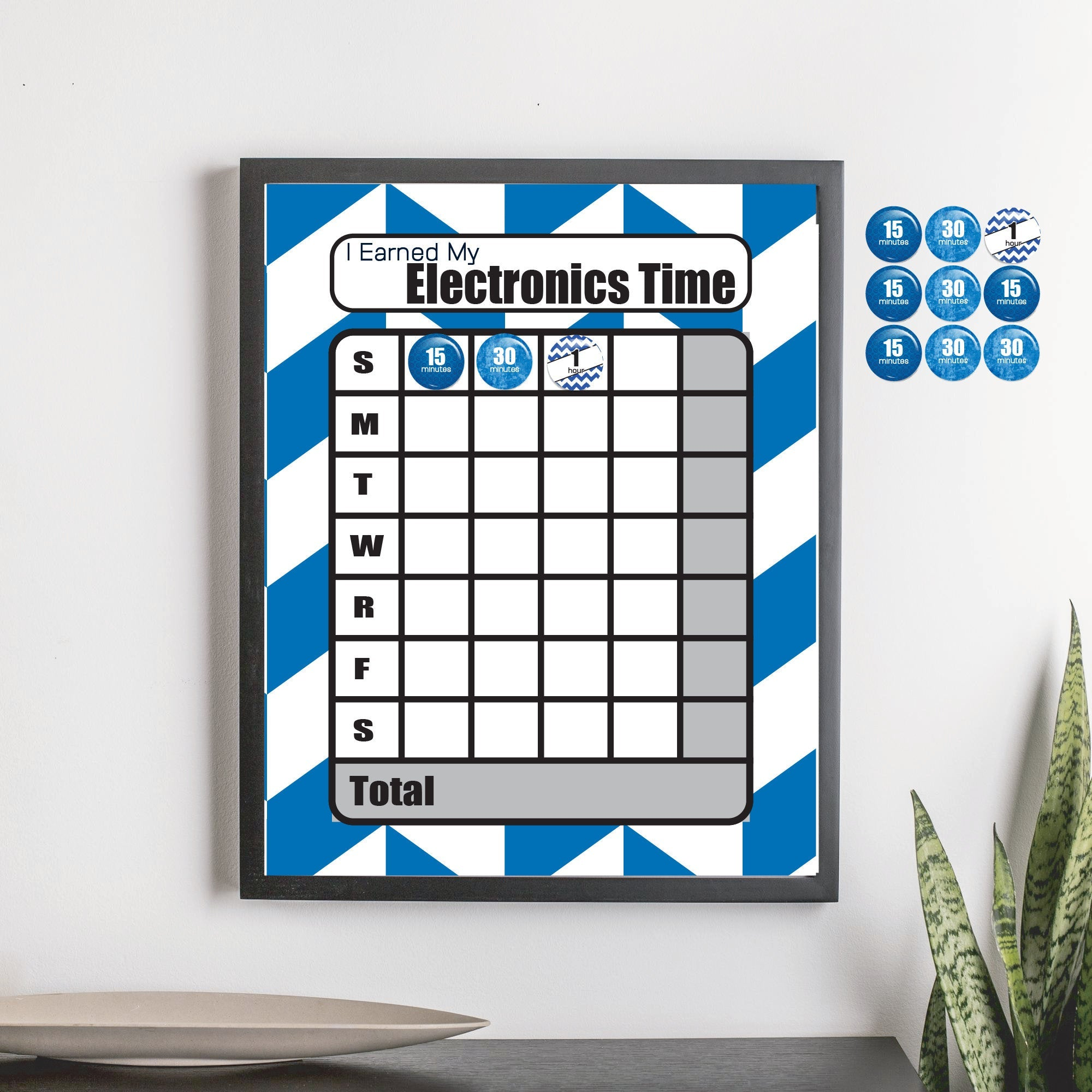 Magnetic Electronics Reward Chart - Blue Alt Chevron