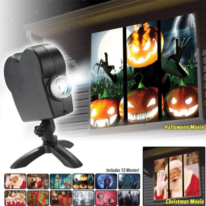 Halloween 2k20 Holographic Projector 12 Movies Also for Christmas - WorldSxxxWide2k15