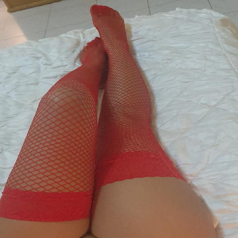 Stocking Sexy Fishnet Red Leg Wear Lingerie M&S - WorldSxxxWide2k15