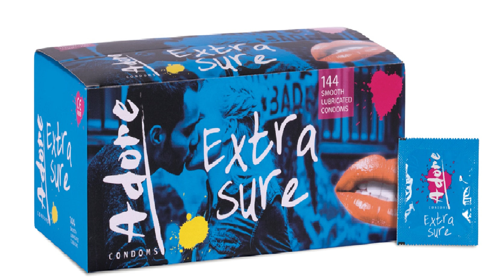 ADORE Extra Sure Safe Condoms 1-4-6-12-24-50-100-144pcs