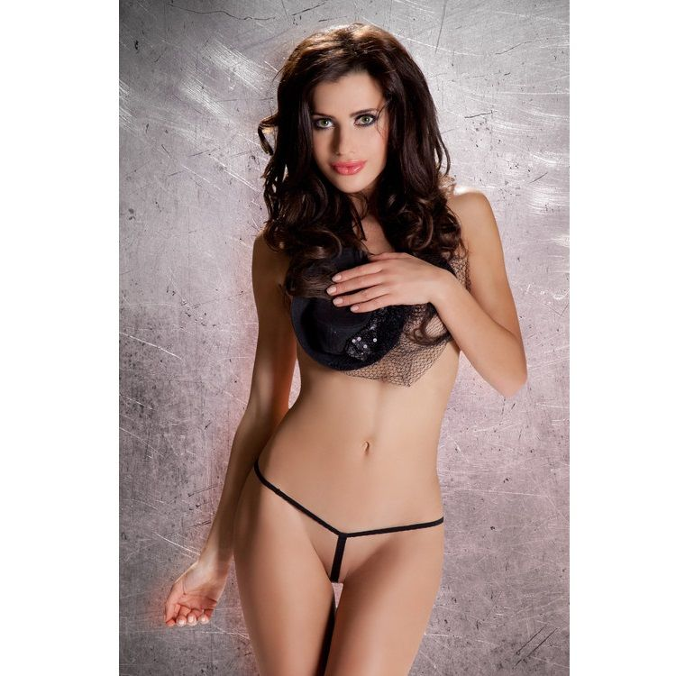 Passion Micro G-String Sexy Lingerie for Woman Black mt003 Free Size - WorldSxxxWide2k15