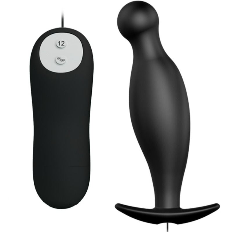 PRETTY LOVE BOTTOM - SILICONE ANAL PLUG EXTRA STIMULATION 12 SPEEDS REMOTE CONTROL - WorldSxxxWide2k15