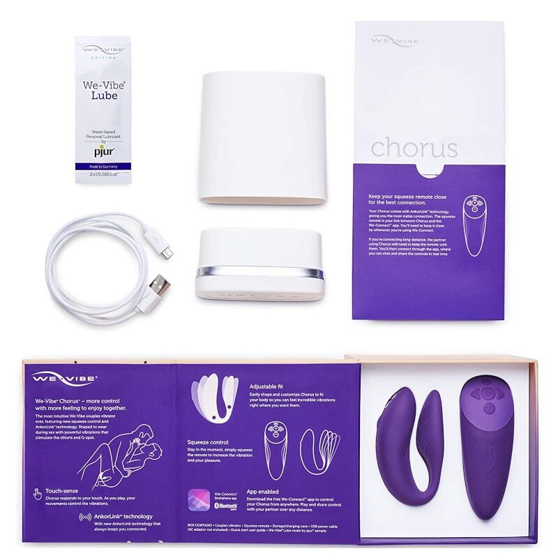We Vibe Chorus Couples Vibrator With Squeeze control - Purple - WorldSxxxWide2k15