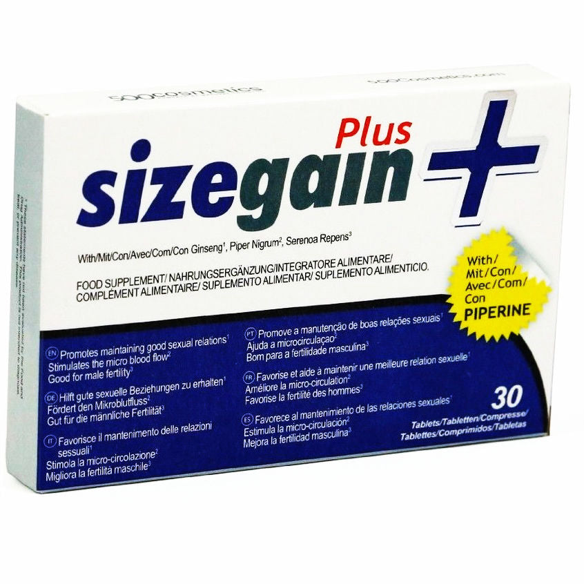 Sizegain plus Male Enhancement incrase penis size libido stamina 30tabs - WorldSxxxWide2k15