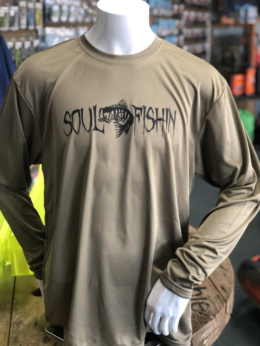 Soul Fishin Cooling Performance Tee | OLIVE