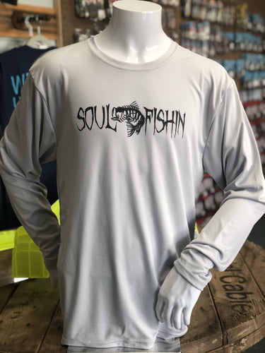 Soul Fishin Cooling Performance Tee | SILVER