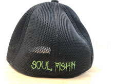 Load image into Gallery viewer, Soul Fishin Fitted Hat | BLACK