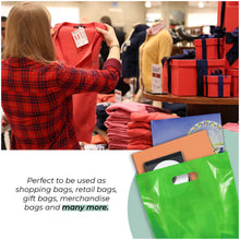 "Load image into Gallery viewer, Green Merchandise Plastic Glossy Retail Bags 1000 Pack 12"" x 15"" with 1.25 mil Thick"