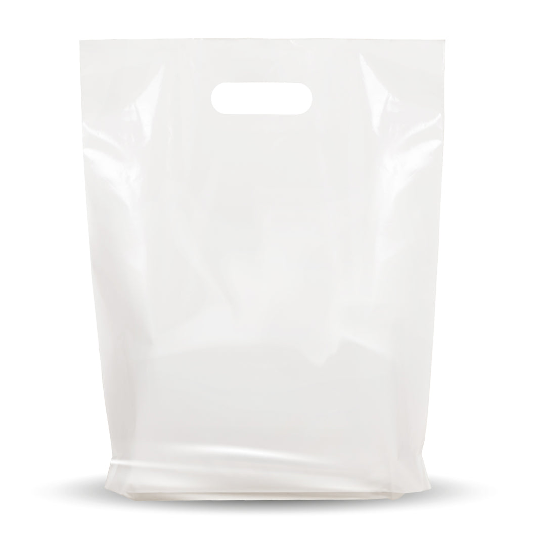 White Merchandise Plastic Shopping Bags - 1000 Pack 12
