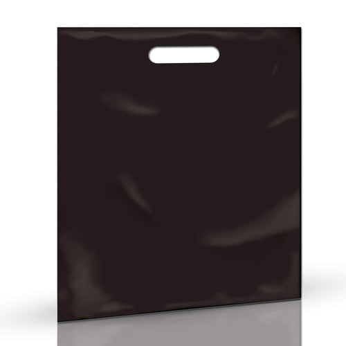 Black Merchandise Plastic Shopping Bags - 100 Pack 15
