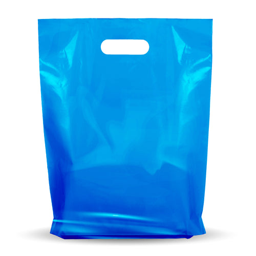 Blue Merchandise Plastic Shopping Bags - 1000 Pack 9