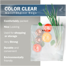 "Load image into Gallery viewer, 100 Pack 20"" x 20"" with 2 mil Thick Extra Large Clear Merchandise Plastic Retail Bags"