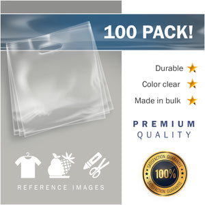 "100 Pack 20"" x 20"" with 2 mil Thick Extra Large Clear Merchandise Plastic Retail Bags"
