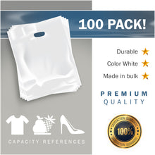 "Load image into Gallery viewer, 100 Pack 20"" x 24"" with 2 mil Thick Extra Large White Merchandise Plastic Retail Bags"