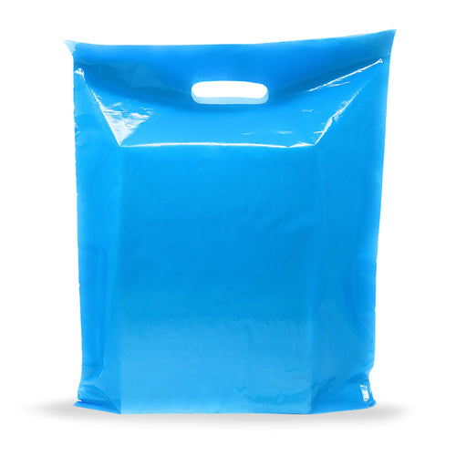 Blue Merchandise Plastic Shopping Bags - 100 Pack 9