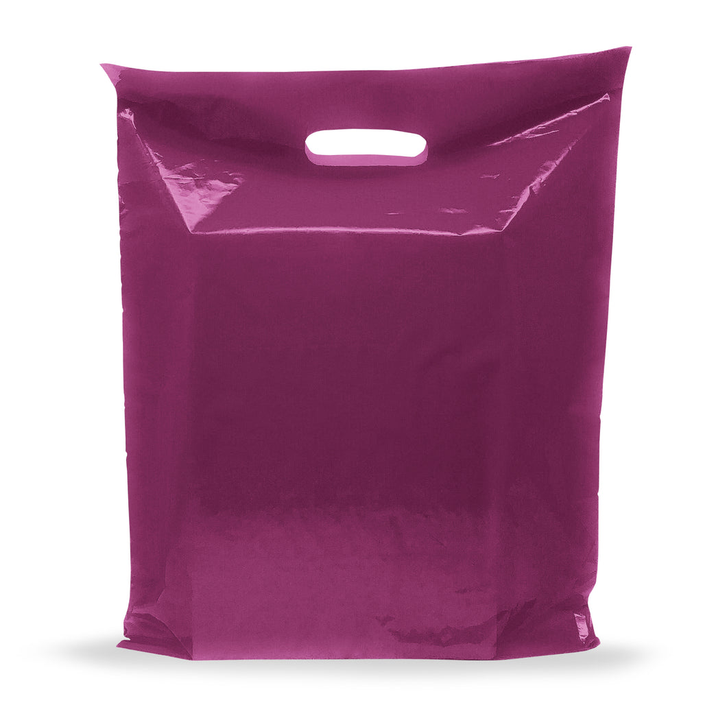 Purple Merchandise Plastic Shopping Bags - 100 Pack 9