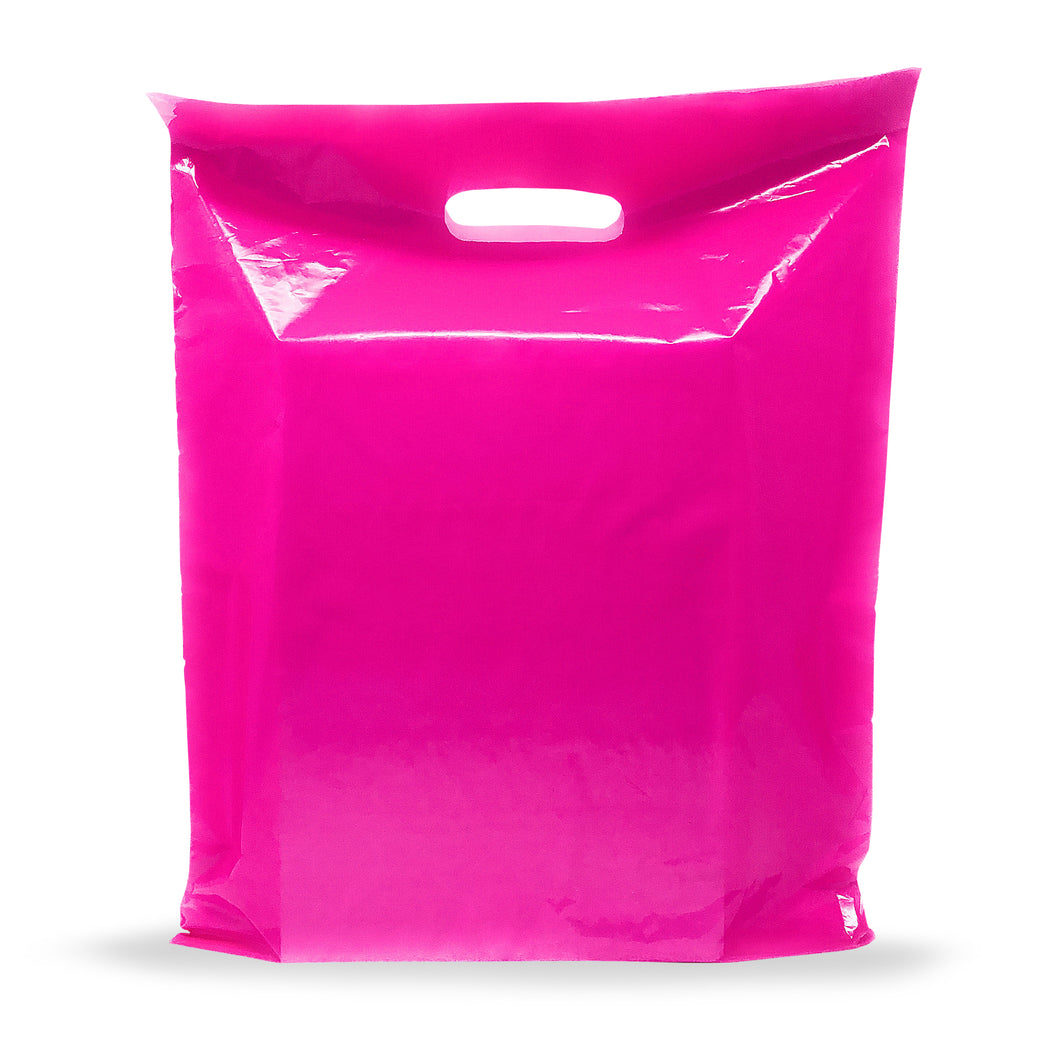 Pink Merchandise Plastic Shopping Bags - 100 Pack 9