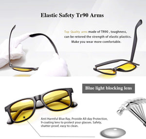 2 in 1 High Quality Computer Glasses+ Night Vision Glasses