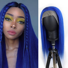 Load image into Gallery viewer, Customized Blue Straight 13*4 Lace Front Wig| Bridger Hair